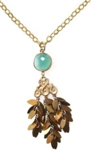 Gold Plated Brass Pendant Necklace