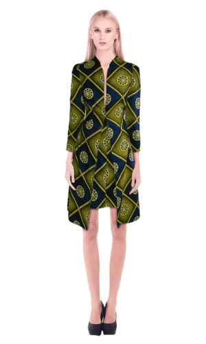 Print Dress Coat By KhuKhuZ