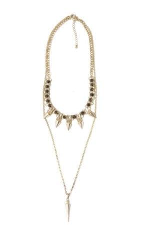 Metallic Rhinestone Necklace