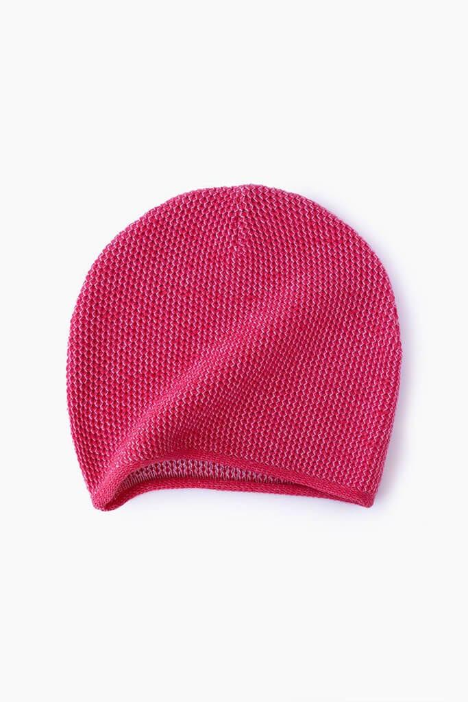 Fuschia Knit Beanie By Mimoods Knits