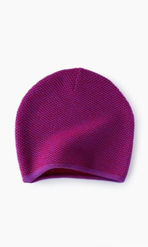 Purple Knit Beanie By Mimoods Knits
