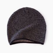 Black Knit Beanie By Mimoods Knits