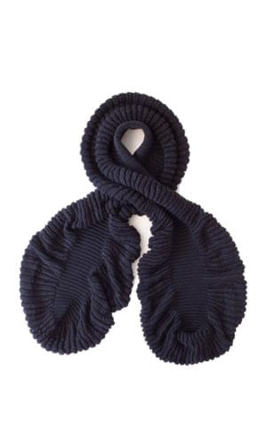 Black Cauliflower Scarf By Mimoods Knits