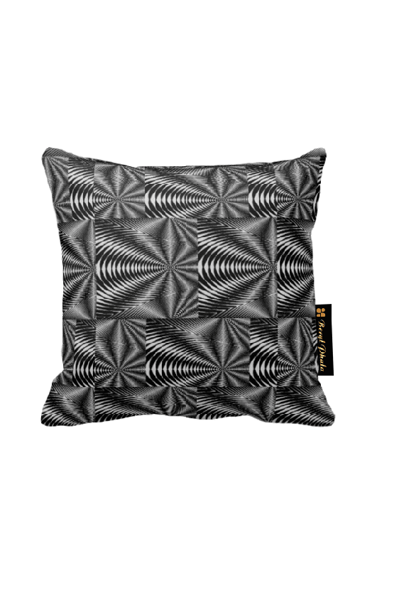 Cushion black and white zebra print