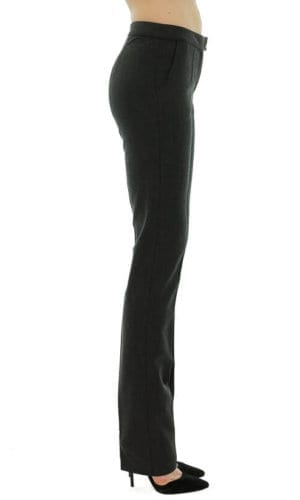Slim Fit Straight Trousers By Stefanie Renoma