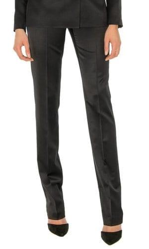 Black Satin Trousers By Stefanie Renoma