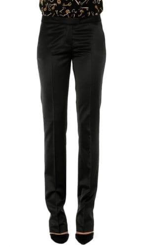BBlack Satin Trousers By Stefanie Renoma