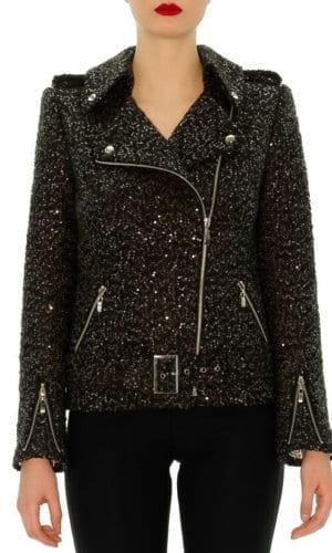 Sequin Biker Jacket By Stefanie Renoma
