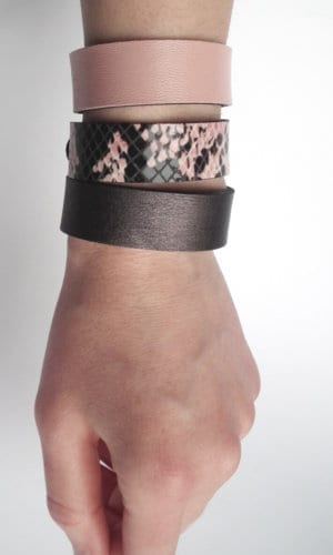 Set Of Leather Bracelets By Mikasha