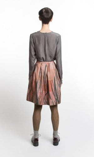 Feather Print Skirt By Clara Kaesdorf