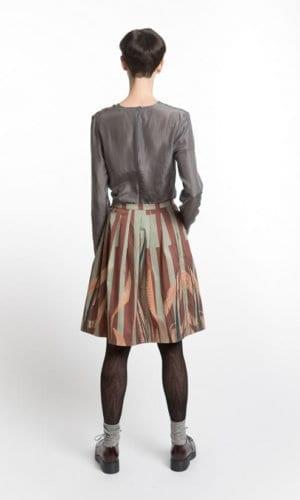 Leaf Print Skirt By Clara Kaesdorf