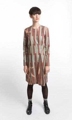 Loose Leaf Print Dress By Clara Kaesdorf