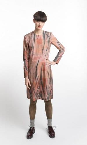 Feather Print Dress By Clara Kaesdorf