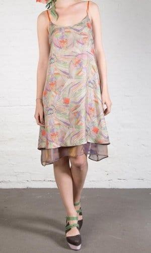 Reversible Violet Silk Dress By Clara Kaesdorf