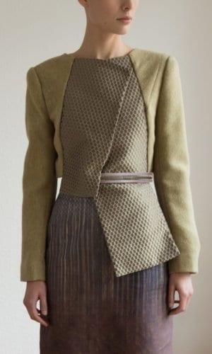 Light Green Wool Jacket By Clara Kaesdorf