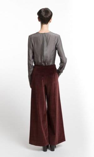 Flared Velvet Marlene Trousers By Clara Kaesdorf