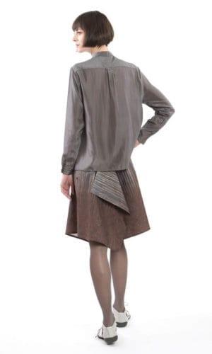 Grey Silk Blouse By Clara Kaesdorf