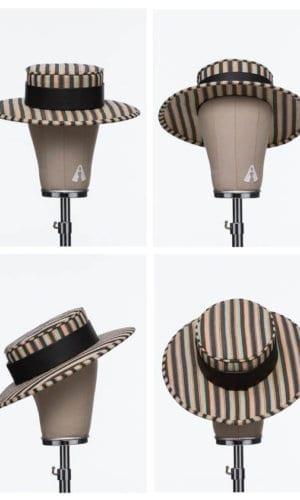 Sunset Striped Hat By Bruna Abreu