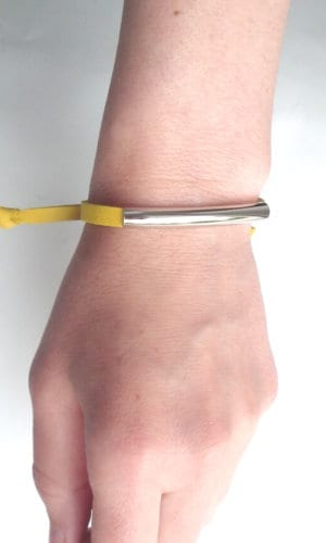 Yellow Leather Bracelet By Mikashka