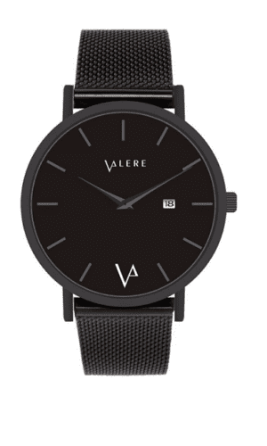 Novus Edition Matte Black Watch By Valere London