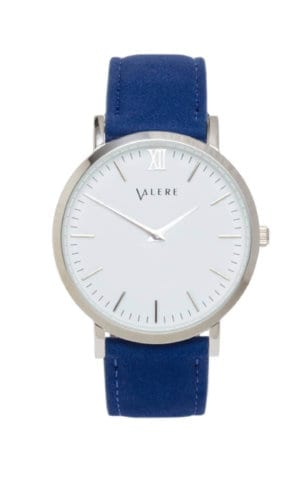 Primus Silver And Blue Watch By Valere London