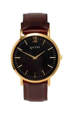 Primus Brown Strap Watch By Valere London