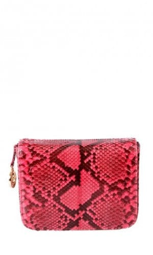 Red Downing Python Crossbody Bag By Cashhimi