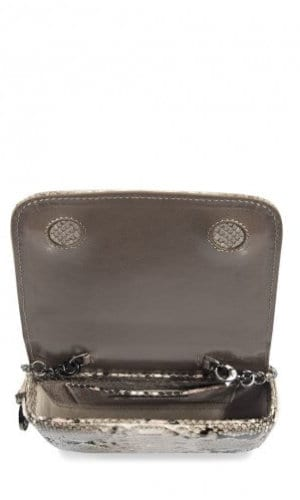 Brown Downing Python Crossbody Bag By Cashhimi