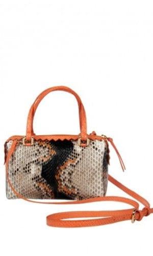 Orange Python Delaware Bag By Cashhimi