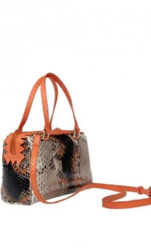 Cashhimi Orange Python Delaware Bag