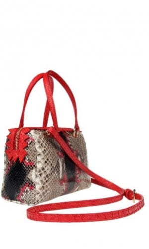 Red Python Delaware Bag By Cashhimi