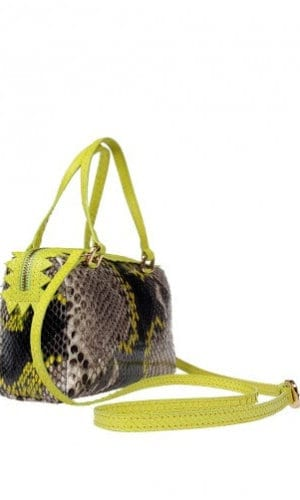 Yellow Python Delaware Bag By Cashhimi