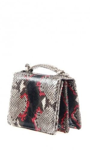 Red Python Annapolis Bag By Cashhimi