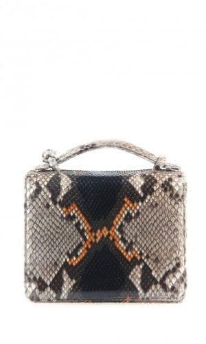 Orange Python Annapolis Bag By Cashhimi