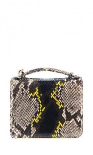 Yellow Python Annapolis Bag By Cashhimi