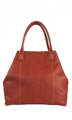 Orange Python Roxbury Tote Bag By Cashhimi