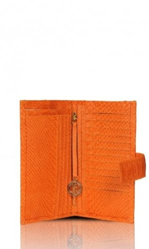 Orange Python Purse By Cashhimi