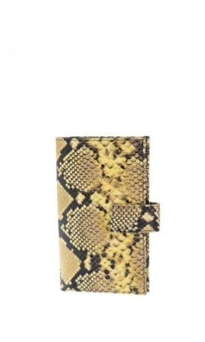 Yellow Python Purse By Cashhimi