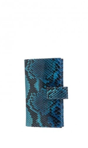 Multi-Blue Python Purse By Cashhimi