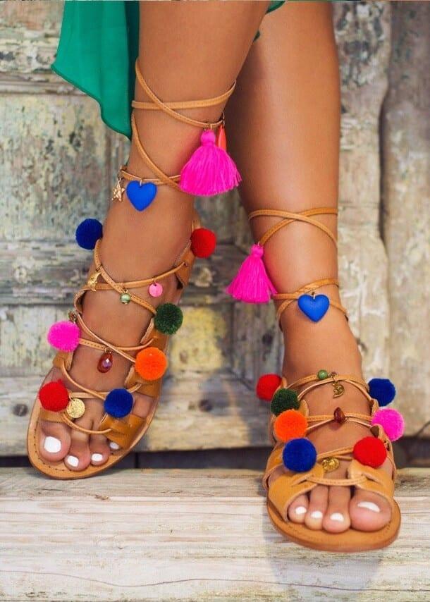 7a7379b292d Marrakech PomPom Sandals