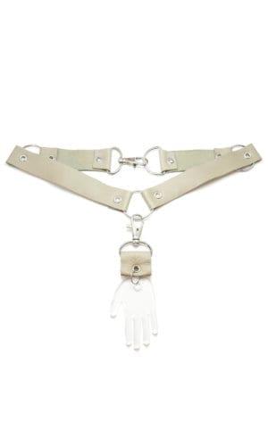 Hands & Cross Bracelet/Necklace By Redgregor