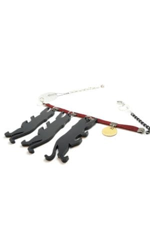Three Panteras Necklace By Redgregor