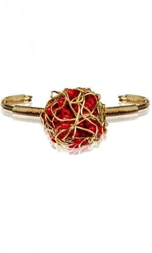 Seductive Red Treasure Bracelet By Mauke V