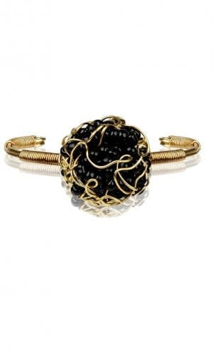 Black Velvet Treasure Bracelet By Mauke V