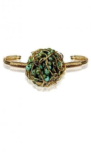 Antique Green Treasure Bracelet By Mauke V