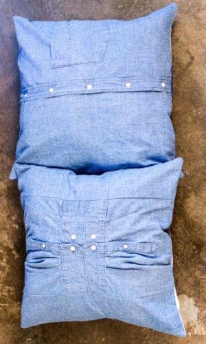 Silk Denim Pillow