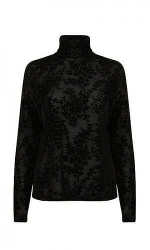 Black Lace Roll Neck By A-MM-E