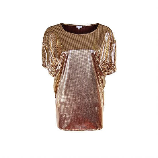 Silk Velvet Drape Top By A-MM-E
