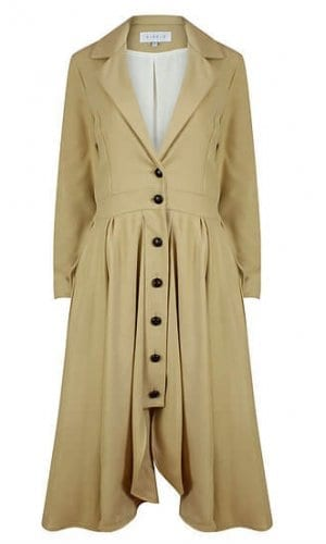 Camel Cashmere Riding Coat By A-MM-E