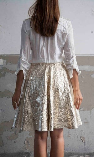 Gold Riding Skirt By A-MM-E